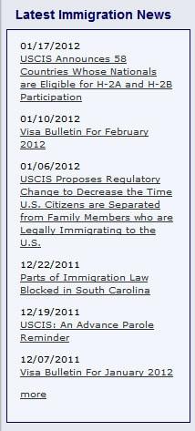 immigration news plugin