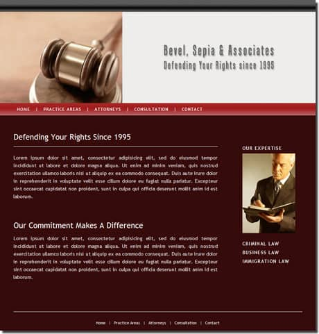 Lawyer website samples