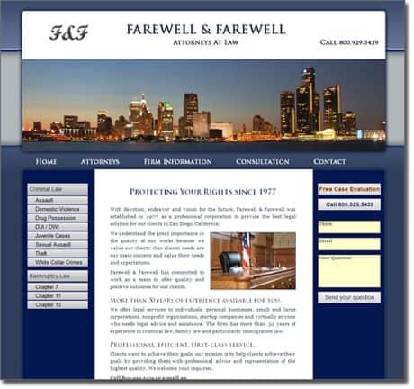 Lawyer Website Design Sample
