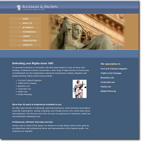 Law Firm website sample