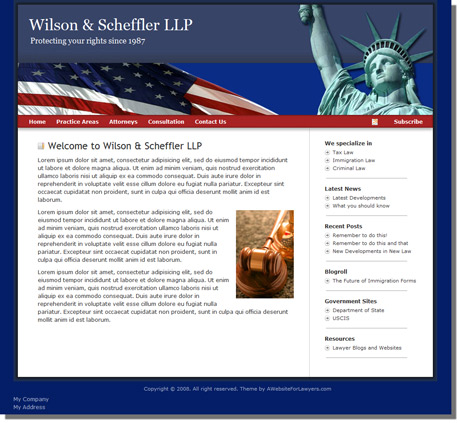 Lawyer website samples