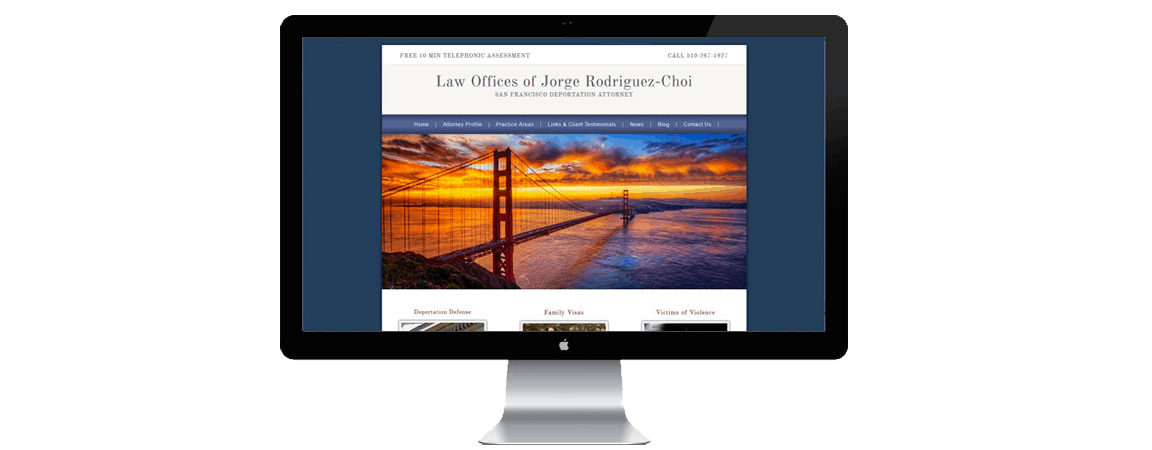 attorney website classic style