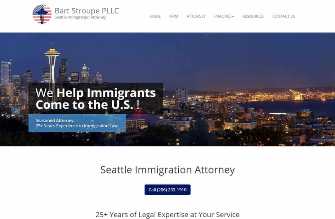 Immigration Lawyer website samples
