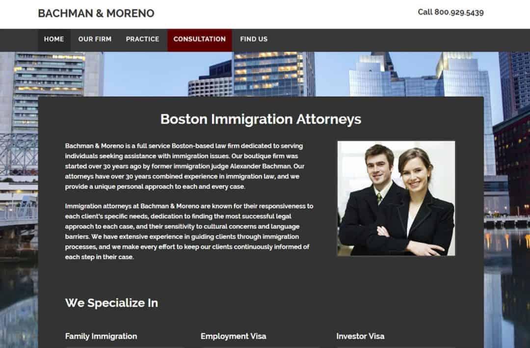 Immigration lawyer website design