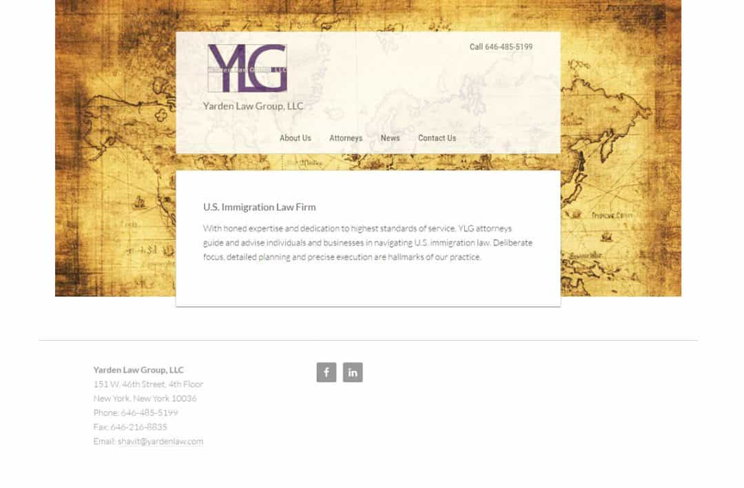 Lawyer website samples: Immigration lawyer web design