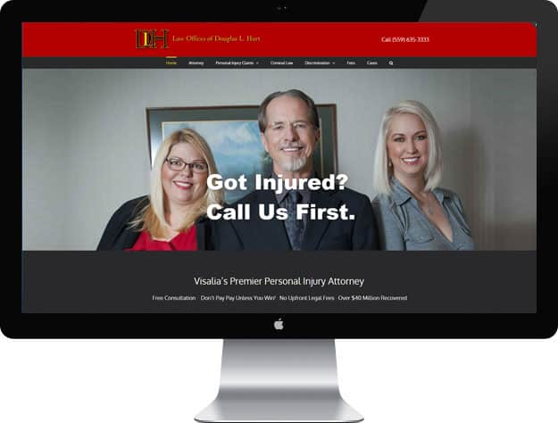 Personal Injury lawyer website design