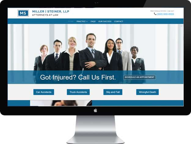 Lawyer website samples: Personal Injury lawyer