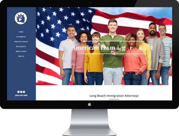 Lawyer website samples: Immigration lawyer website