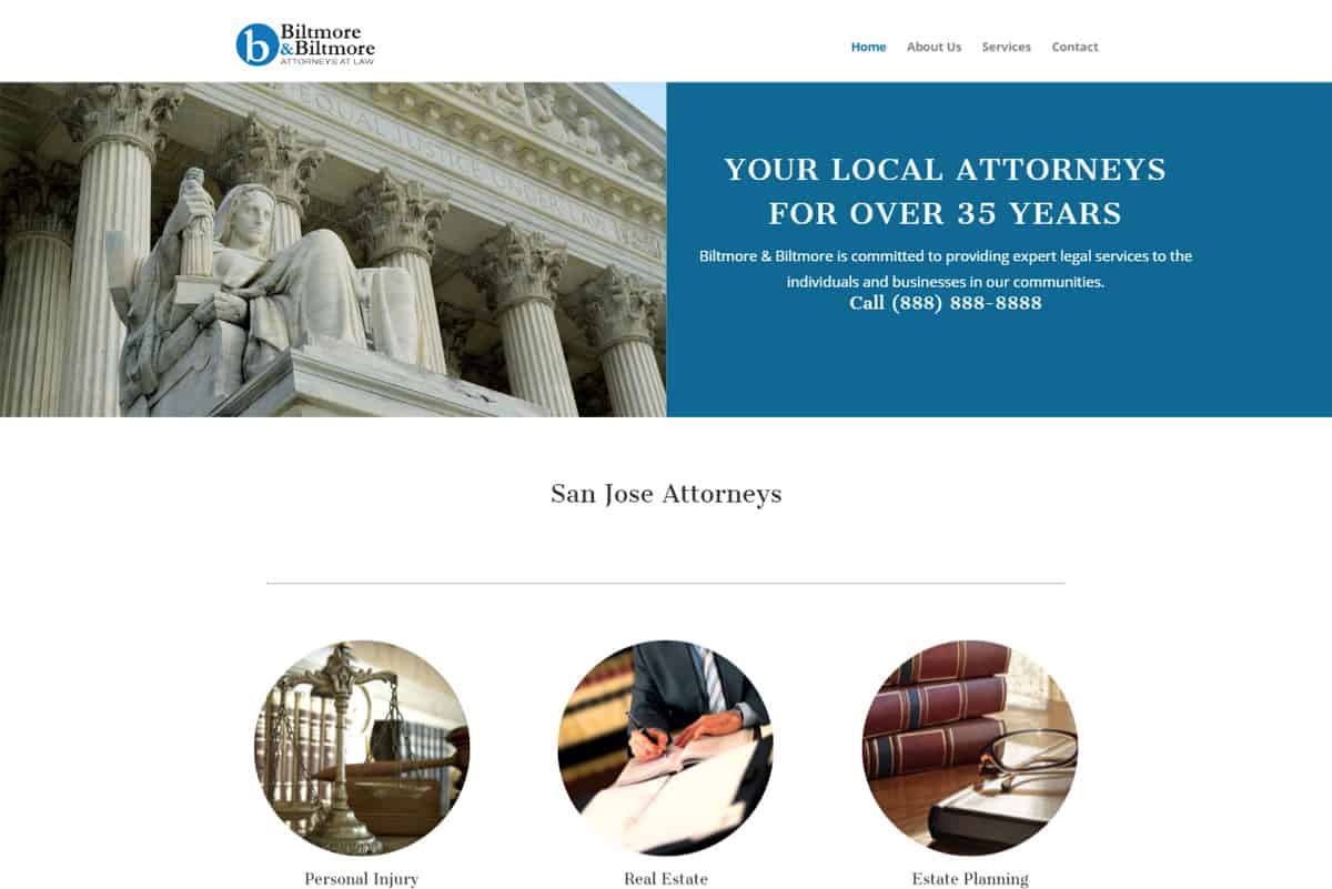 Lawyer website samples: Personal Injury lawyer website design