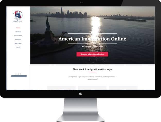 Lawyer website sample: Immigration lawyer web design