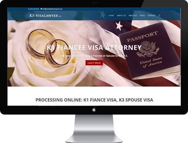 Lawyer website samples: Immigration lawyer website design