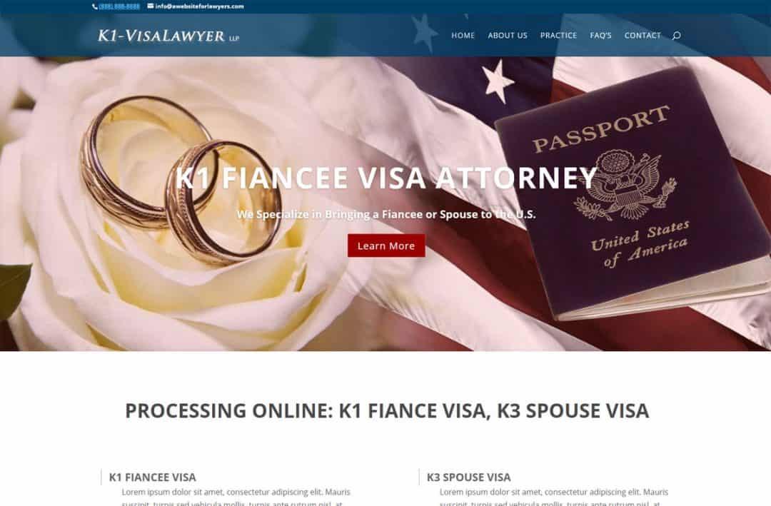 Lawyer web design sample: Immigration attorney website design