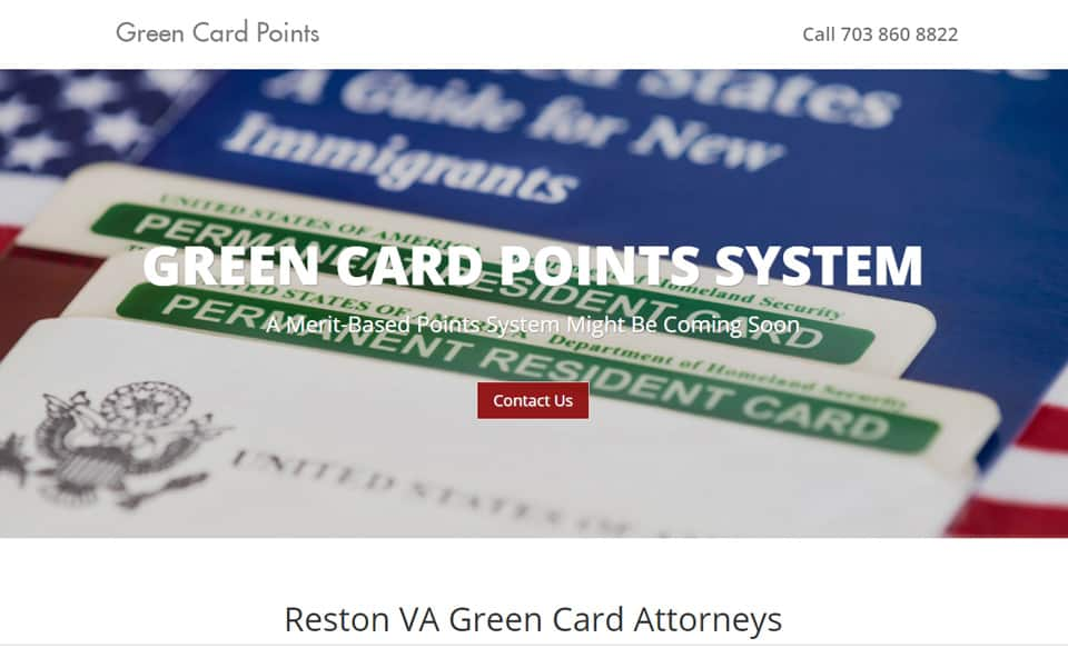 One Page Immigration Attorney Website