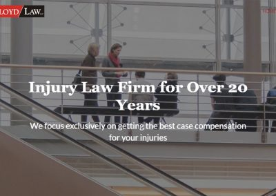 Personal Injury Attorney – One-Pager