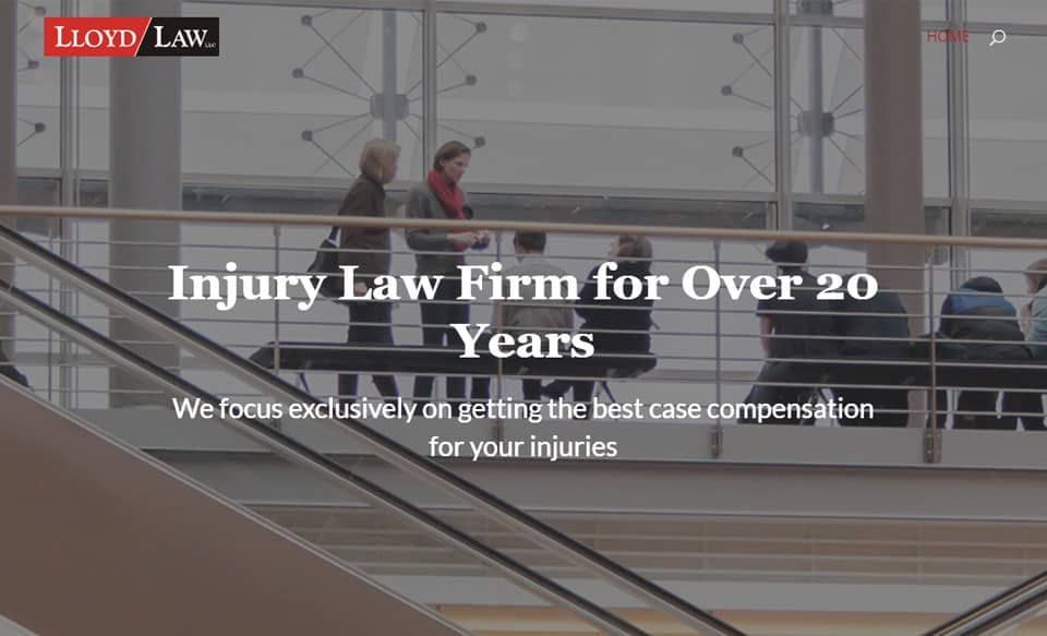 Personal Injury Attorney - OnePager Website