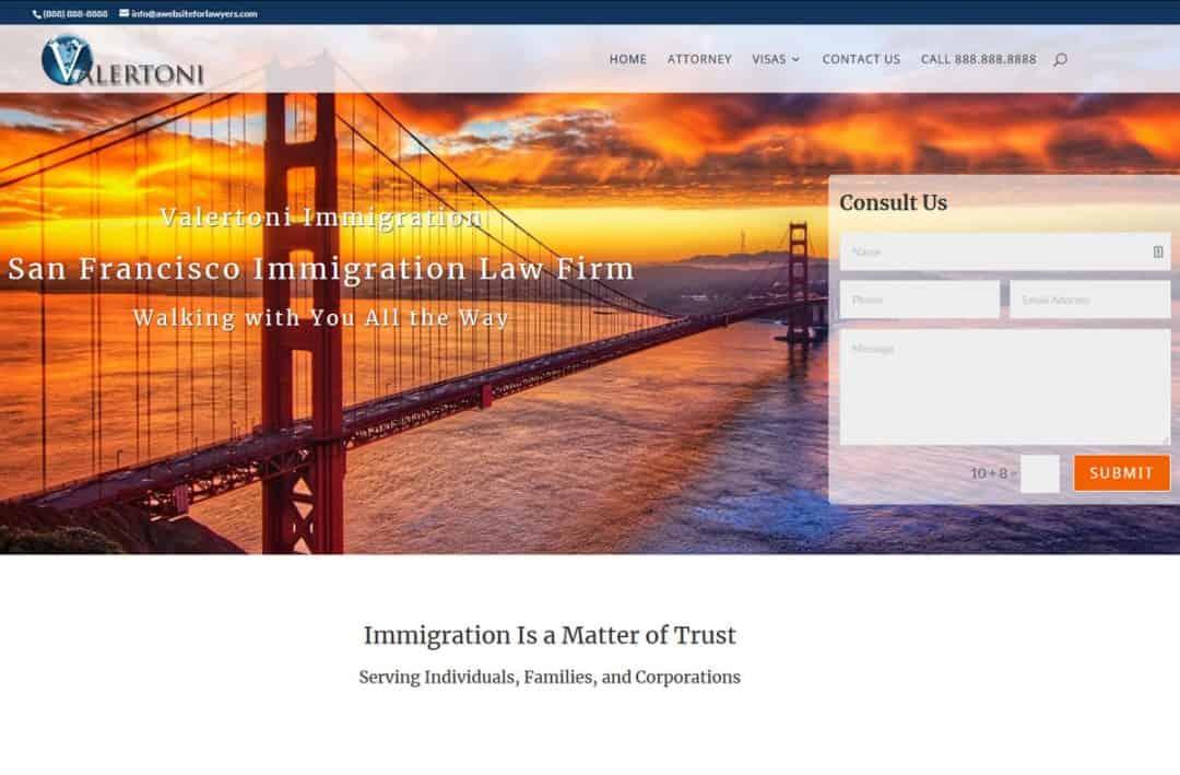 Lawyer website sample
