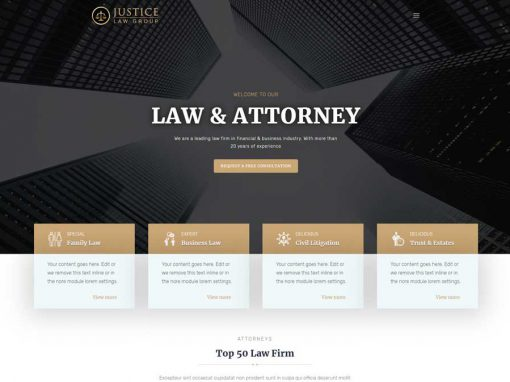 One-Pager: Justice Law Group