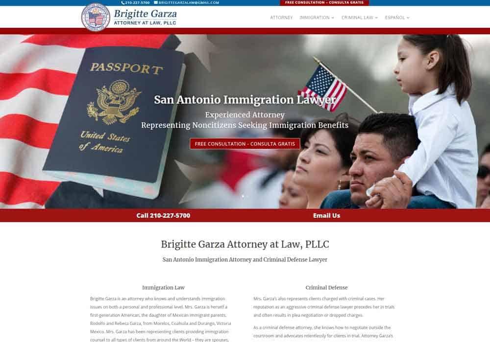 Brigitte Garza Attorney Website