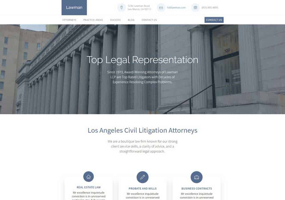 Lawman Website Template